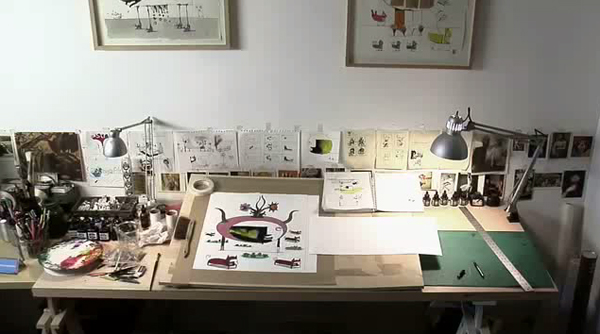 Mini-documentary about the desks of creative people