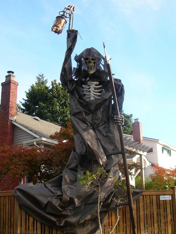 Build a giant Grim Reaper