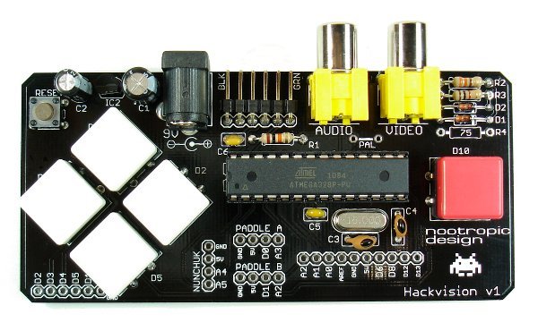 Hackvision, an open-source video game system