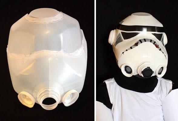 How-To:  Stormtrooper helmet from milk jugs