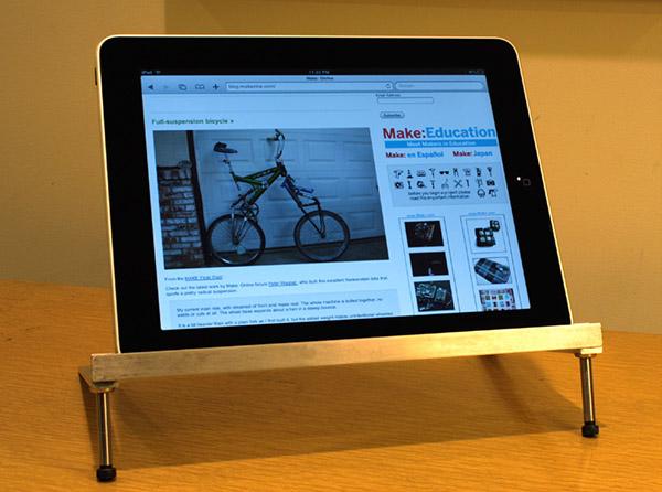 Make a brushed aluminum iPad stand
