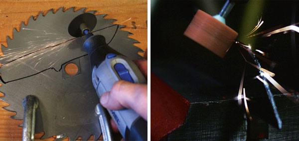 Make a knife from an old saw blade