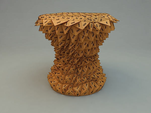 One hundred triangles stool