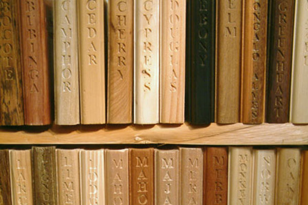 """Woods of the world indexed as """"library"""" of """"books"""""""