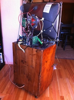 """The """"Poor Man's Flat Screen & Rolling Entertainment System"""""""