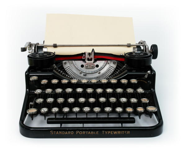 A pleasant afternoon of manual typewriting?