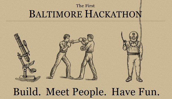 The First Baltimore Hackathon is November 19th