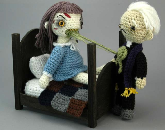 how to crochet amigurumi exorcist playset make