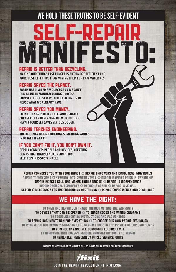 The iFixit Repair Manifesto