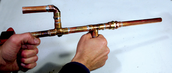 Make a deluxe copper marshmallow shooter