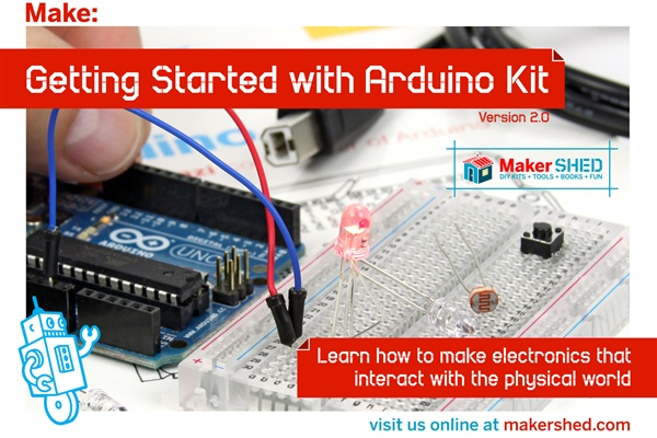 New in the Maker Shed: Getting Started with Arduino Kit V2.0