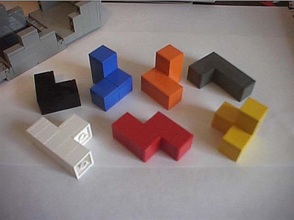 Lego interlocking solid puzzles