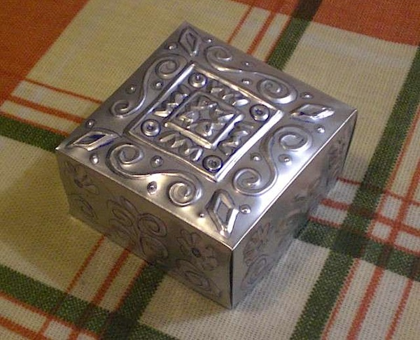 How-To: Embossed metal box from beverage can