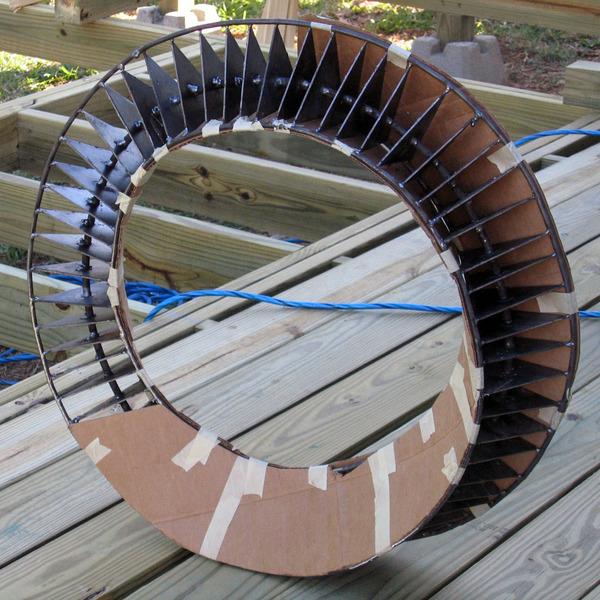 Handmade steel umbilic torus