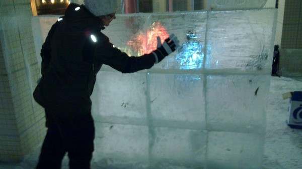 Touchscreen made of ice