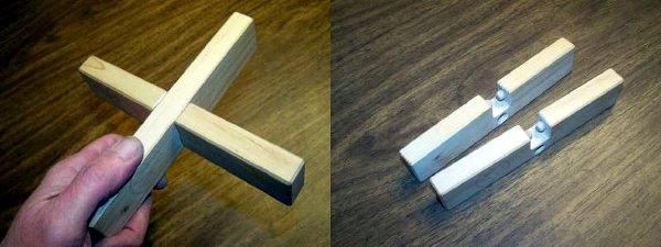 "How-To: Build Nob Yoshigahara's ""Dualock"" cross puzzle"