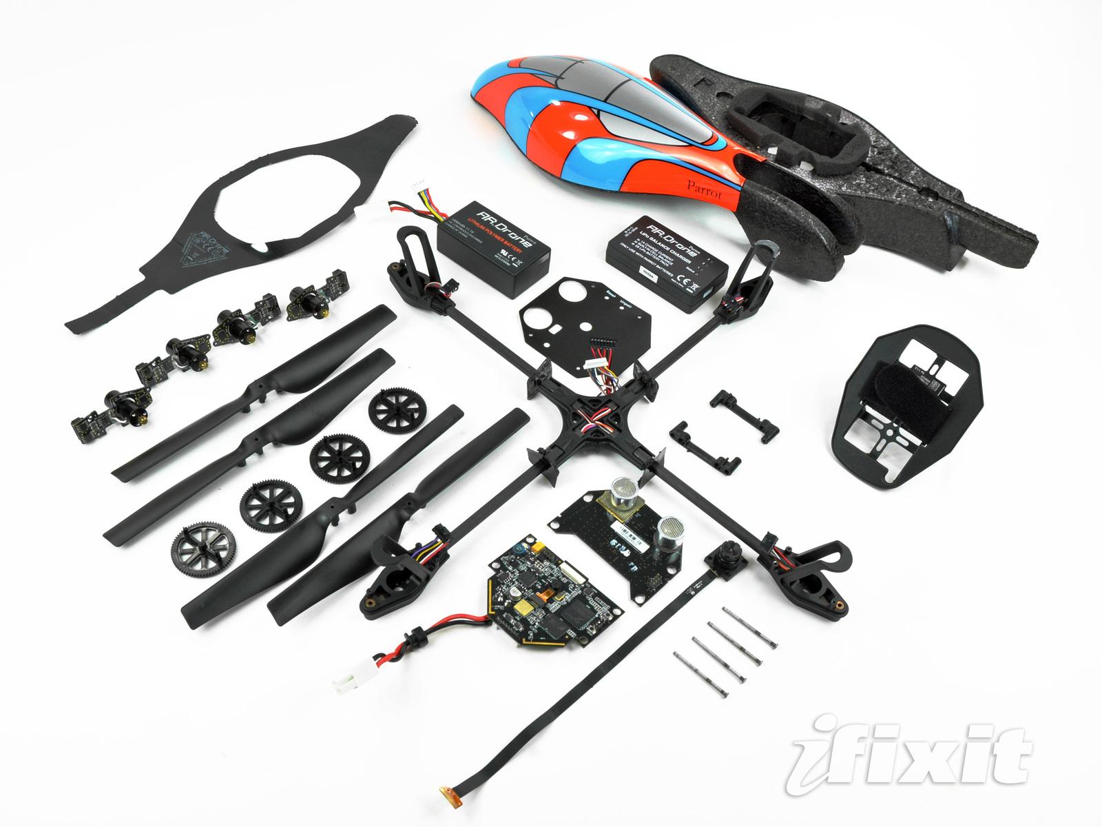 Parrot AR.Drone quadcopter teardown