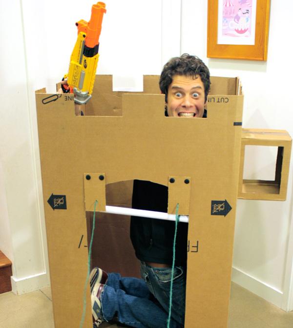 Make an appliance box fort