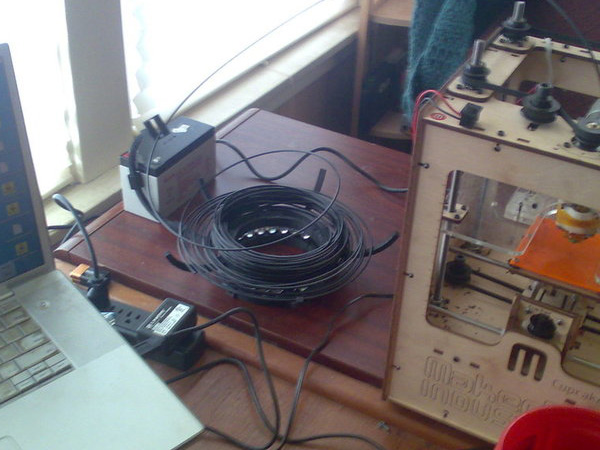 Printable 3D-printer filament holder