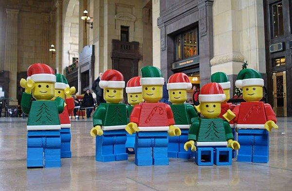 Giant Lego minifigs invade Kansas City