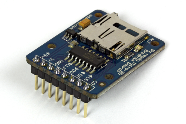 New in the Maker Shed: MicroSD card breakout board