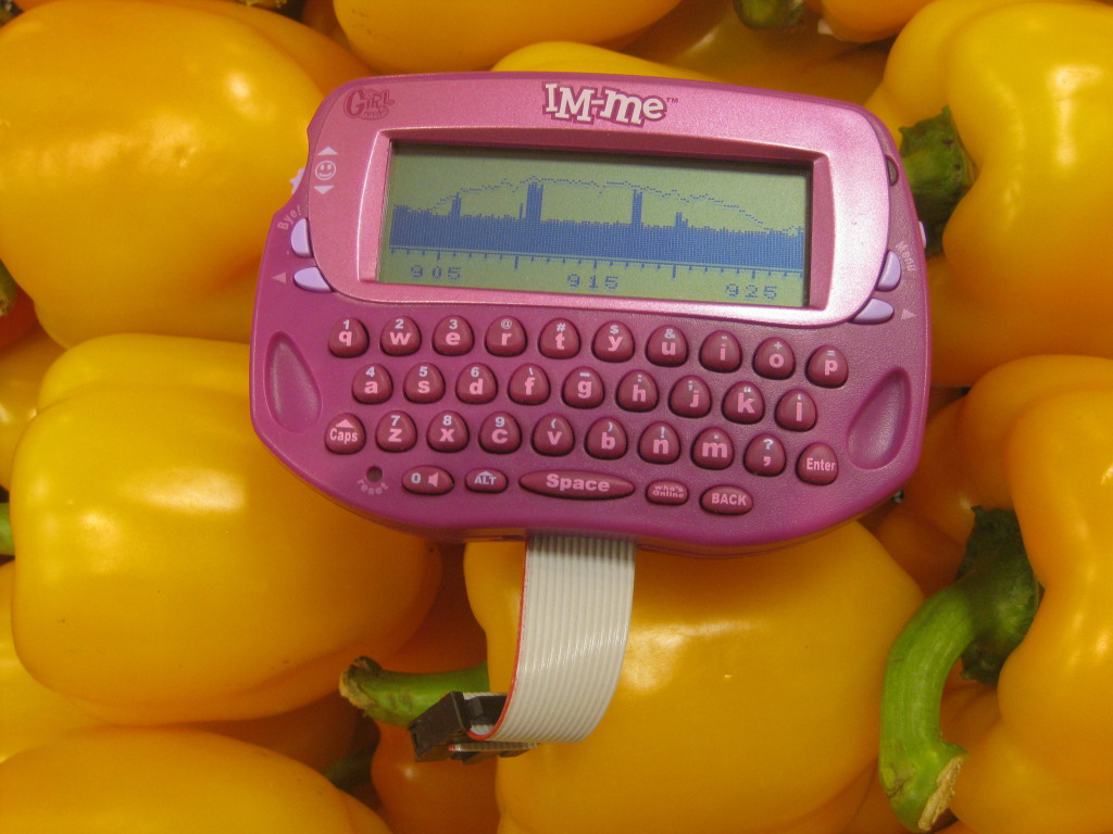 Pocket spectrum analyzer from  toy