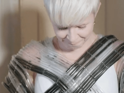 Fluid tubing garment: behind the scenes for Robyn music video