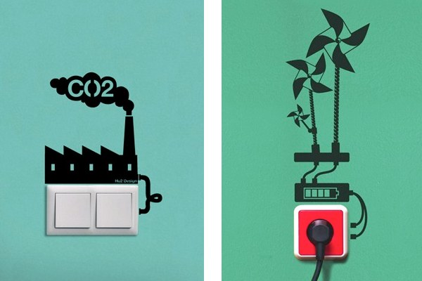 Wall decals serve as eco reminders