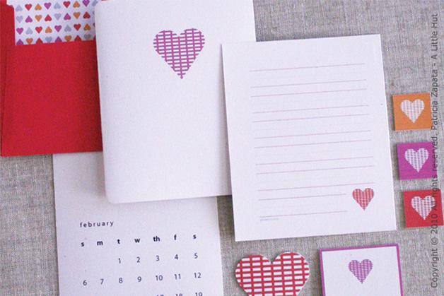 Valentine's Day Printable Stationery Set