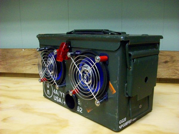 DIY ammo box speakers