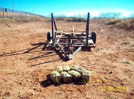 Smugglers caught with weed-flinging catapult