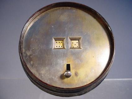 Antique mechanical dice
