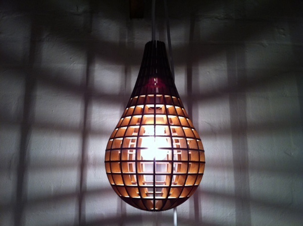 Lasercut pendant light