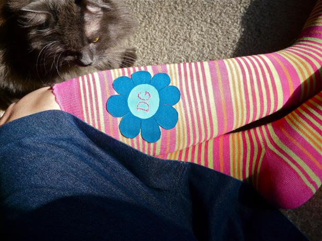 How-To: Appliqué Your Knee Socks