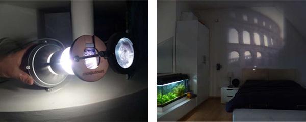 DIY Slide Projector from Ikea Lamp