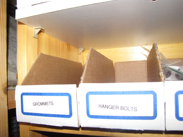 Cardboard bins!