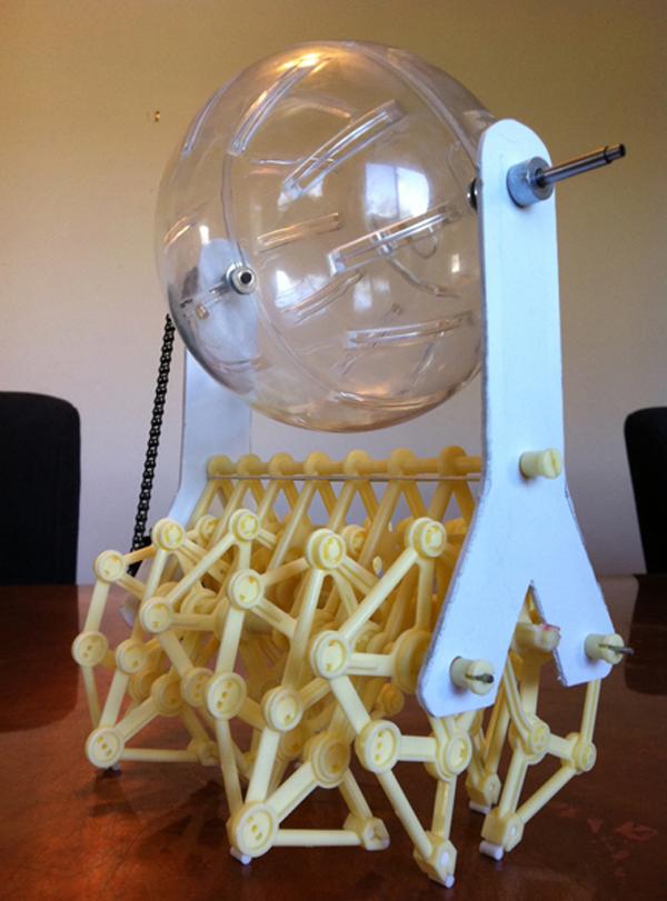 Crabfu's rodent-powered Jansen walker