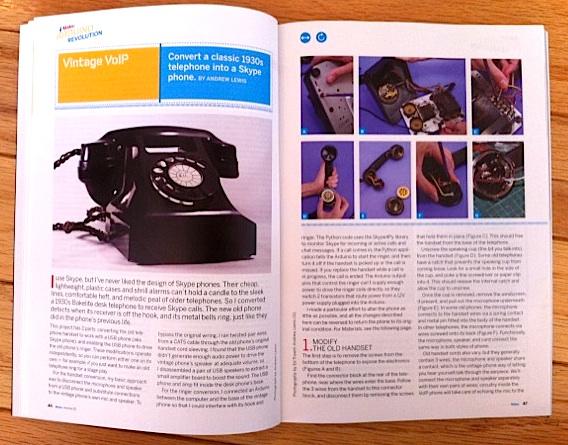 MAKE Volume 25: Retro Skype Phone