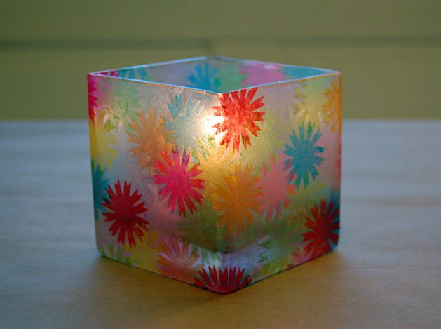 How To Decorative A Votive Holder Like Stained Glass Make