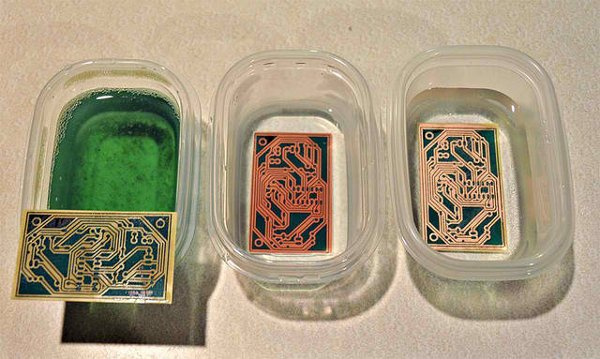 Etch circuit boards with common household chemicals
