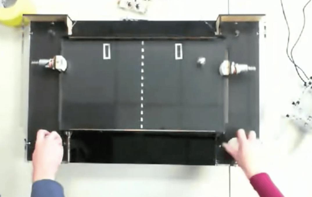 Tabletop Mechanical Pong on Make: Live ep05