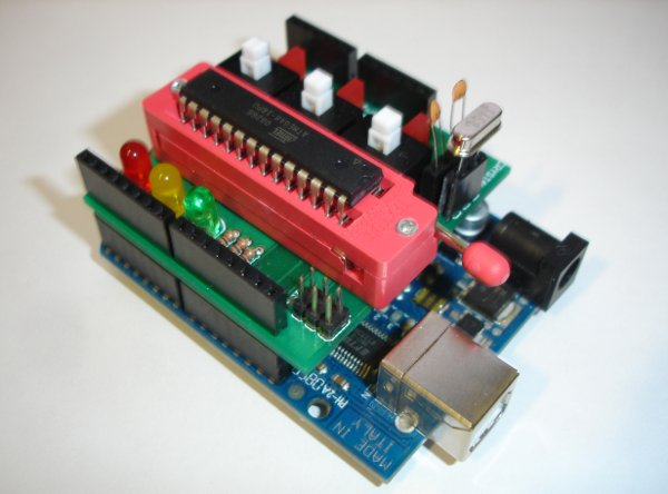 Program AVR microcontrollers using your Arduino and the Senpai shield
