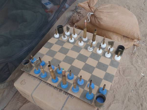 Marine's Field-Improvised Chess Set From Afghanistan