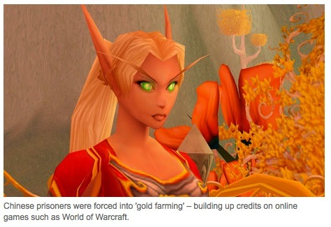 """NEWS FROM THE FUTURE: Prisoners forced to """"gold farm"""" in virtual worlds"""