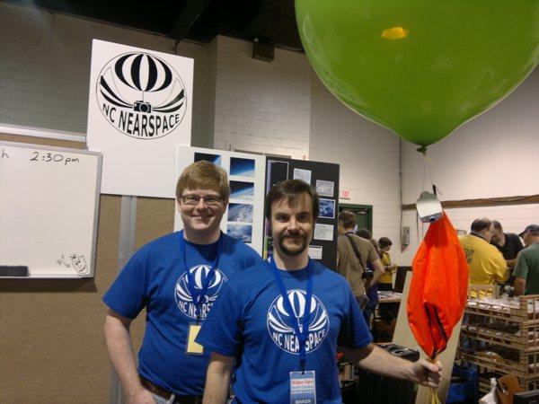 Near space balloon launch today at Mini Maker Faire North Carolina
