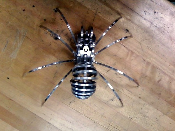 Flat Pack Spider Milled from Aluminum Plate