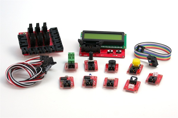 In the Maker Shed: Arduino Electronic Brick Starter Kit