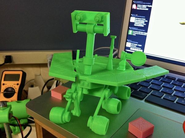 Cute, Green, Printable Mars Rover Model