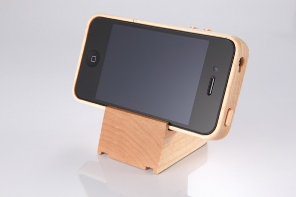 Snazzy Wood iPhone Case with Matching Stand