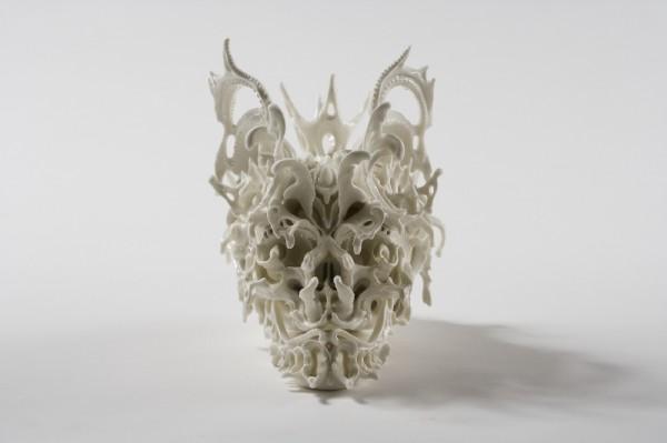 Intricate Porcelain Skulls